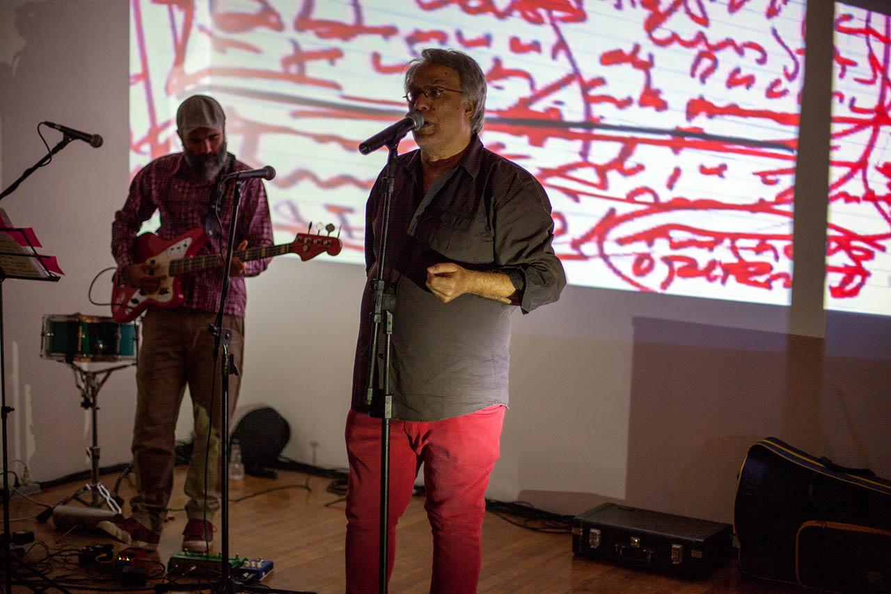 Fausto Fawcett em seu show Pentagrama